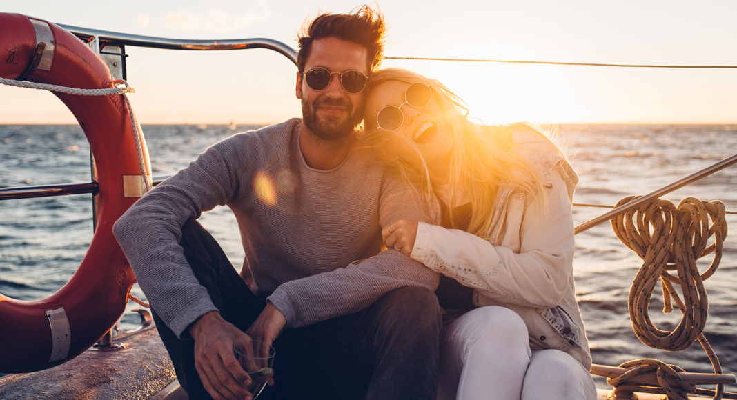Couple on a cruise