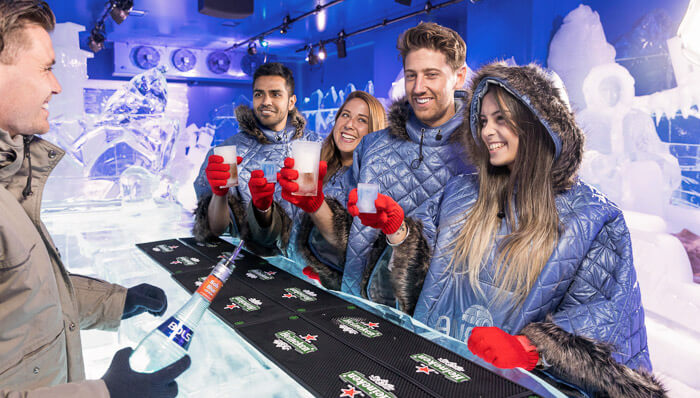 Tourists at the Icebar