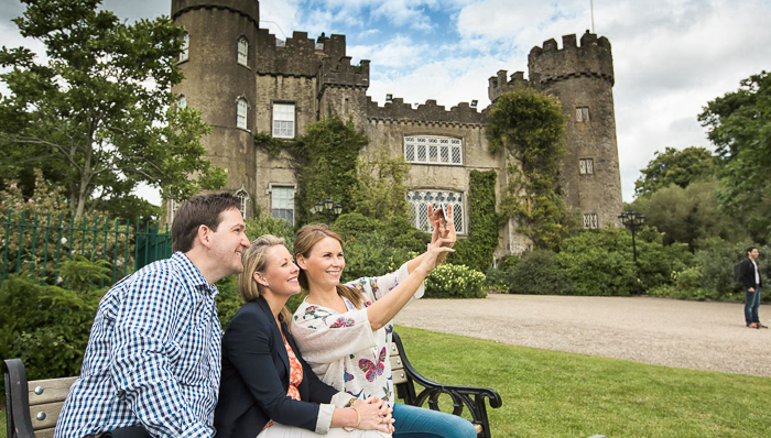 Visitors to Malahide Castle on a day trip from Dublin